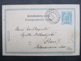 GANZSACHE Mühlhausen Milevsko Tabor - Praha 1909 ///  C2770 - Covers & Documents