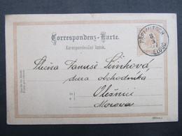 GANZSACHE Prelouc - Olesnice 1897 ///  C2772 - Covers & Documents
