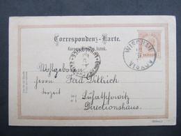 GANZSACHE Wischau Vyskov - Luhacovice 1895  ///  C2776 - Covers & Documents