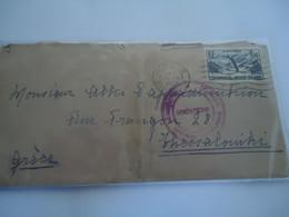 FRANCE COVER  1937 PARIS VIII    ΘΕΣΣΑΛΟΝΚΗ ΕΘΝΙΚΟΥ ΝΟΜΙΣΜΑΤΟΣ - Unclassified