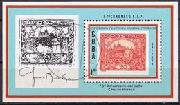 Kuba Block 112 Gestempelt, Internationale Briefmarkenausstellung PRAGA'88 In Prag - Blocks & Sheetlets