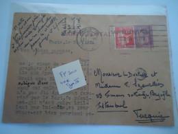 FRANCE COVER  KARTE POSTALE 1933  2 SCAN - Unclassified