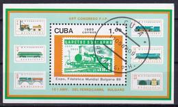 Kuba Block 115 Gestempelt, Internationale Briefmarkenausstellung BULGARIA'89 In Sofia - Blocks & Sheetlets