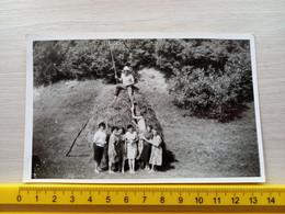 #21 Original Photo Woman Girl Femme Fille  Man Men Boy Homme Garcon Couple Pose On The Village - Anonymous Persons