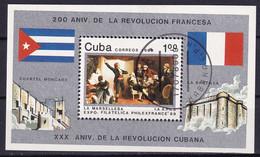 Kuba Block 116 Gestempelt, Internationale Briefmarkenausstellung PHILEXFRANCE'89 In Paris - Blocks & Sheetlets