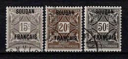 Soudan - 1921  - Timbres Taxe N° 3/4/6 - Oblit - Used - Used Stamps