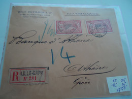 FRANCE  COVER  REGISTERED  LILLE 1911  2 SCAN - Unclassified