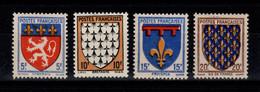 YV 572 à 575 N** Armoiries Cote 5,50 Euros - Unused Stamps