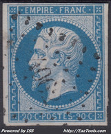 FRANCE CLASSIQUE : EMPIRE N° 14 RARE OBLITERATION PC 4062 SERENT MORBIHAN - 1853-1860 Napoleon III
