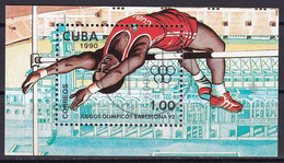 Kuba Block 118 Gestempelt, Olympische Sommerspiele 1992  In Barcelona - Hochsprung - Blocks & Sheetlets