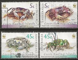 YT N° 381 à 384 - Oblitéré - Crabes - Cocos (Keeling) Islands