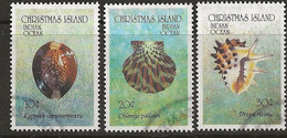 YT N° 361-362-363 - Oblitéré - Coquillages - Christmas Island
