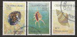 YT N° 373-374-375 - Oblitéré - Coquillages - Christmas Island