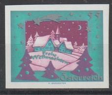 """2019 ? - ÖSTERREICH  - Vignette """"Frohe Weihnachten"""" 55 C Mehrf - ** Postfrisch - S.Scan  (pm Frohe Weihn. At) - Private Stamps"""