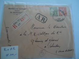 FRANCE  COVER  REGISTERED  1937 VALENTON - Unclassified