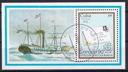 Kuba Block 120 Gestempelt, Internationale Briefmarkenausstellung STAMP WORLD LONDON'90 In London - Blocks & Sheetlets