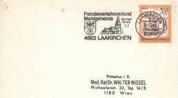 4663 Laakirchen 1984 Fremdenverkehrsverband Marktgemeinde Moorbad Gmös Wappen Getreide Mühlrad - Thermalisme