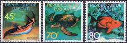 DJIBOUTI :1977: Y.465-67*** Postfris/neufs/MNH : VISSEN,POISSONS,FISHES. - Fishes