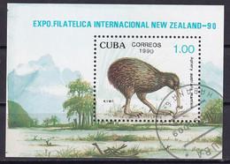 Kuba Block 122 Gestempelt, Internationale Briefmarkenausstellung NEW ZEALAND'90 In Auckland - Blocks & Sheetlets