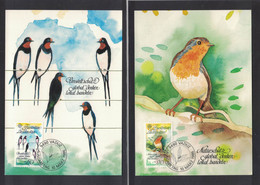 NB146    Liechtenstein 1986 Europa Birds - Maximum Card - Pájaros Cantores (Passeri)