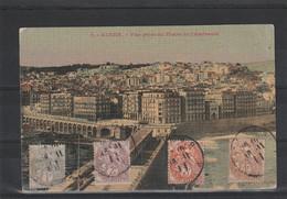 CARTE POSTALE AVEC   BLANC 1911 POUR LA BELGIQUE - Covers & Documents
