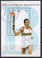 Kuba Block 123 Gestempelt, Olympische Sommerspiele 1992 In Bacelona - Fackelläufer - Blocks & Sheetlets
