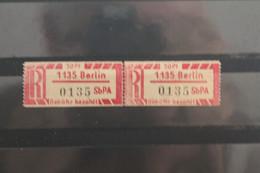 Einschreibe-Gebührenzettel Für Sb-Versuchspostämter 1967;1Cx; 1135 Berlin; **Z - Unclassified