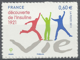 France, Diabète, Découverte De L'insuline, 2011 **, TB autoadhésif - Ongebruikt