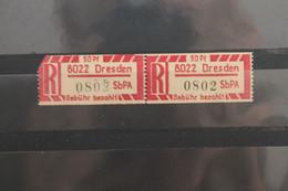 Einschreibe-Gebührenzettel Für Sb-Versuchspostämter 1967;1Cx; 8022 Dresden; **Z - Unclassified