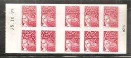 France, 3085a-C2, Type II, Daté, Carnet Neuf **, Non Plié, TTB, Le Timbre Un Plaisir Qui Se Com., Marianne De Luquet - 1997-04 Marianne Van De 14de Juli