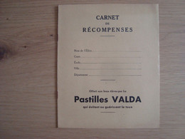 CARNET DE RECOMPENSES PASTILLES VALDA - Protège-cahiers