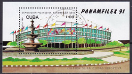 Kuba Block 124 Gestempelt, Internationale Briefmarkenausstellung PANAMFILEX'91 In Havanna - Blocks & Sheetlets