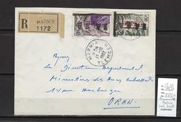 Algerie -EA  - Lettre Recommandée MARNIA - 10/1962 - Surcharge Locale - Covers & Documents