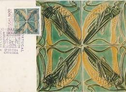 Portugal & Maximum Card, V Centuries Of Tiles, Rafael Bordalo Pinheiro, Tiles Museum, Lisbon 1982 (172) - Altri