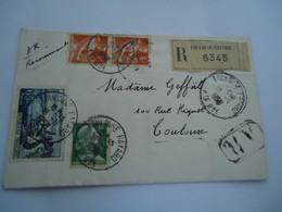 FRANCE  COVER  REGISTERED  1958 TOLOUSE BAYARD - Unclassified