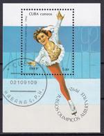 Kuba Block 125 Gestempelt, Olympische Winterspiele1992  In Albertville - Blocks & Sheetlets