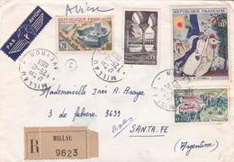 FRANCE. ENVELOPPE CIRCULEE ANNEE 1963, MILLAU A SANTA FE ARGENTINE. RECOMMANDE, PAR AVION.- LILHU - Brieven En Documenten