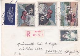 FRANCE. ENVELOPPE CIRCULEE ANNEE 1967, MILLAU A SANTA FE ARGENTINE. RECOMMANDE, PAR AVION.- LILHU - Brieven En Documenten