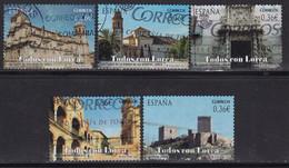 2012-ED.  4691 A 4695-SERIE COMPLETA-TODOS CON LORCA.MONUMENTOS DE LORCA ( MURCIA )-USADO - 2011-... Usati