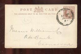 "Grossbritanien / 1895 / Postkarte Gestempelt, Rs. Zudruck ""Bank Of Ireland"" (6029) - Covers & Documents"
