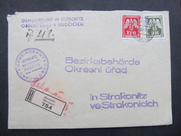 BRIEF Hudcice Strakonice 1943 Breznice   ///  C2813 - Briefe U. Dokumente