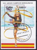Kuba Block 127 Gestempelt, Olympische Sommerspiele In Bacelona - Blocks & Sheetlets