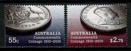 AUSTRALIE 2010 N° 3224/3225 ** Neufs MNH Superbes C 7.20 € Monnaie Du Commonwealth Armoirie Coat Of Arms Roi Edouard - Mint Stamps
