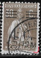 PORTUGAL 1928 30C Ceres- Big N/C Cliche + Bars Error? - VFU No Faults - Unclassified