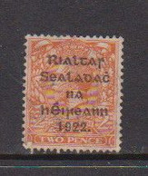 IRELAND    1922    2d  Bright  Orange    Type II     Printed  By  Harrison    USED - Used Stamps