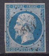 FRANCE CLASSIQUE : EMPIRE N° 14a OBLITERATION PC 2814 SARTILLY MANCHE - 1853-1860 Napoleon III