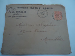 FRANCE  COVER  HOTELSAINT LUIS 1902 WITH LETTER  3 SCAN - Unclassified