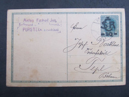 GANZSACHE Pürstein Perstejn - Tepl 1919 //  C2857 - Covers & Documents