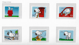 PORTUGAL STAMP - 2000 SNOOPY IN THE POST OFFICE SET MNH (CRL6#14) - ATM/Frama Labels
