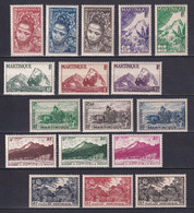 MARTINIQUE - YVERT N° 226/242 * MLH - COTE 2022 = 25 EUROS - - Unused Stamps